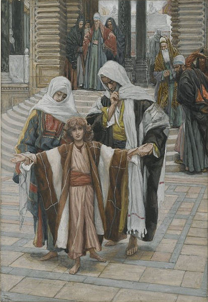Datei:Brooklyn Museum - Jesus Found in the Temple (Jesus retrouvé dans le temple) - James Tissot - overall.jpg