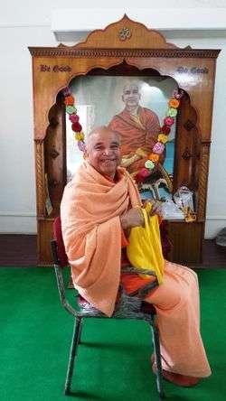 Swami Yogaswarupananda in Rishikesh