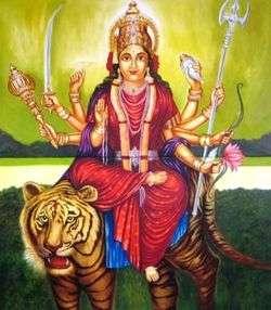 Göttin 8 Arme Indische that abet